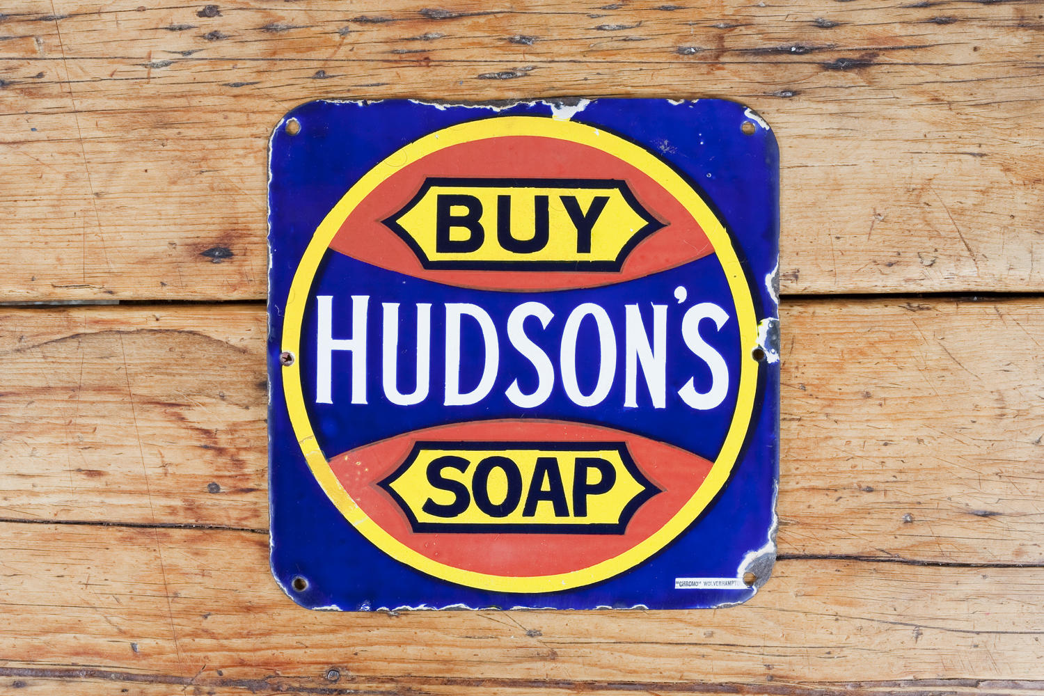 Hudson's Soap enamel sign