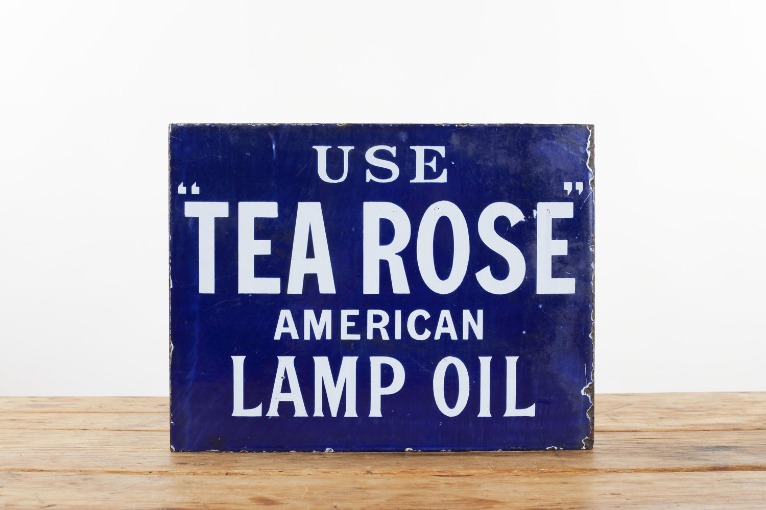 Original advertising  sign for American 'Tea Rose' Lamp Oil