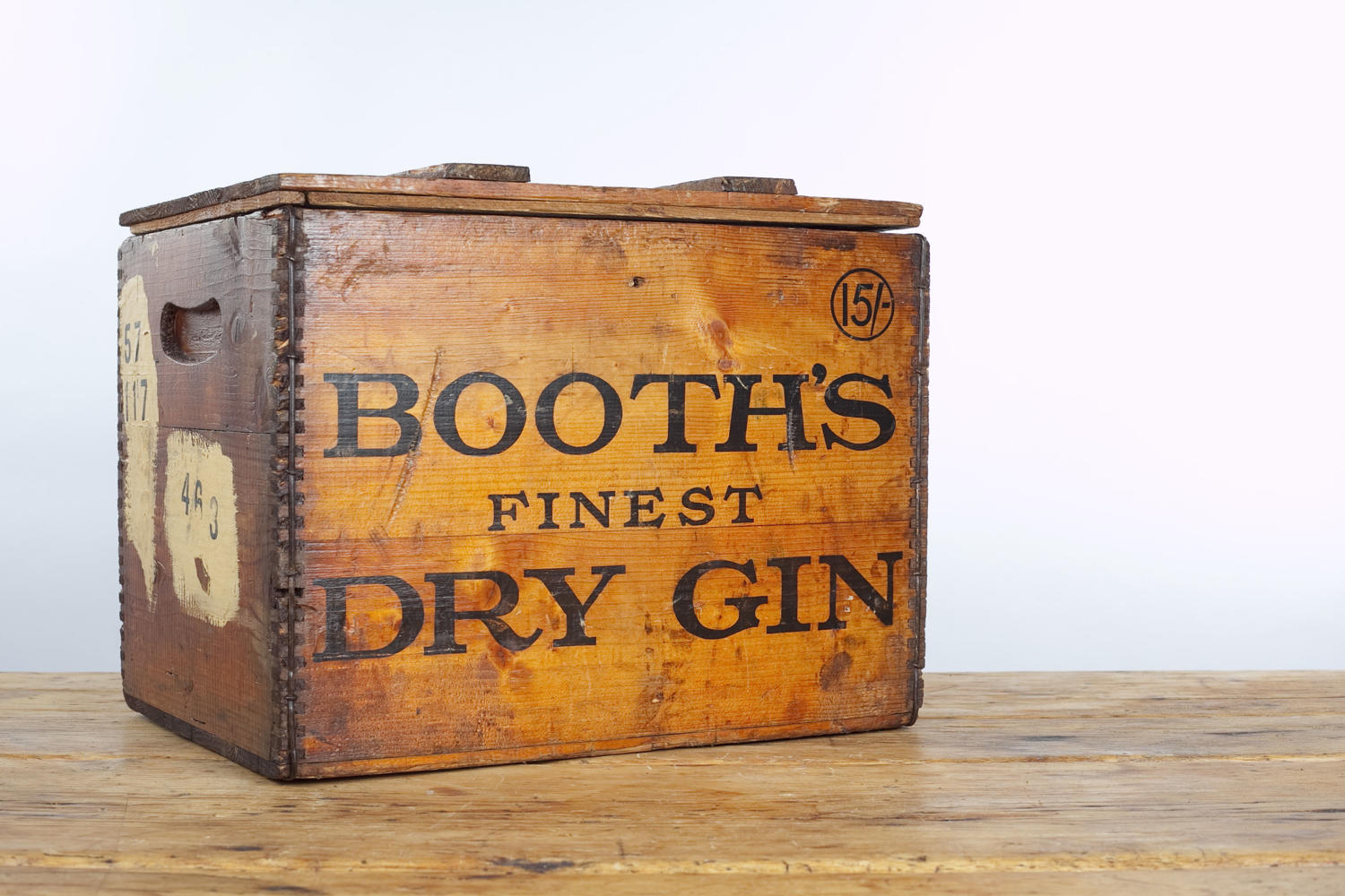 Vintage packing crate for Booth's Finest Dry Gin