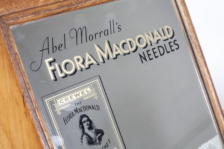 Vintage haberdashery shop display for Flora MacDonald Needles