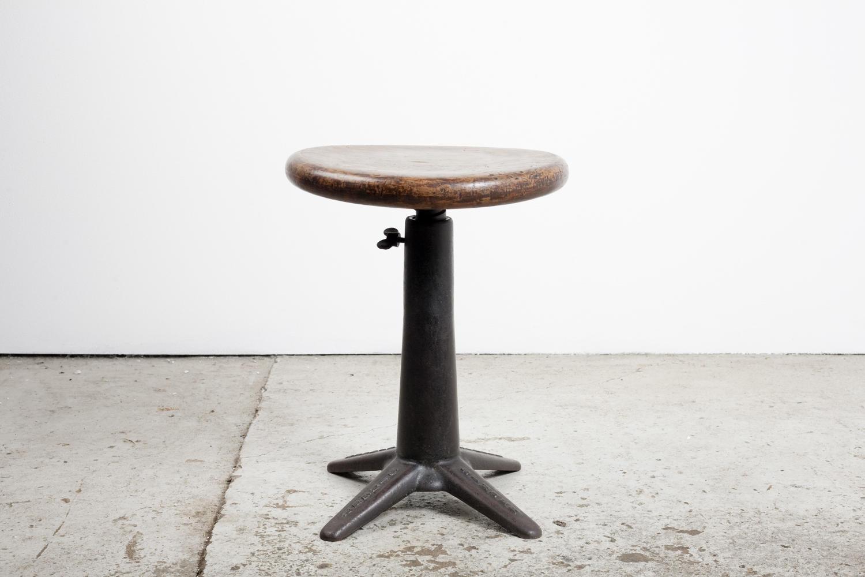 Industrial work stool by Singer.