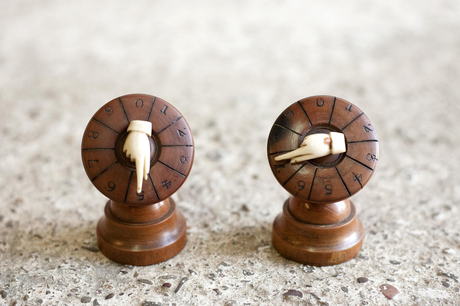 Antique whist markers