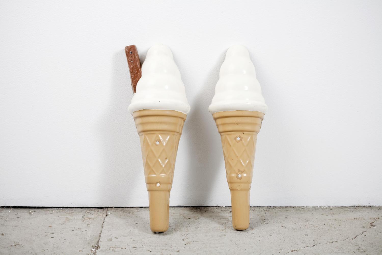 A pair of oversized ice cream cones
