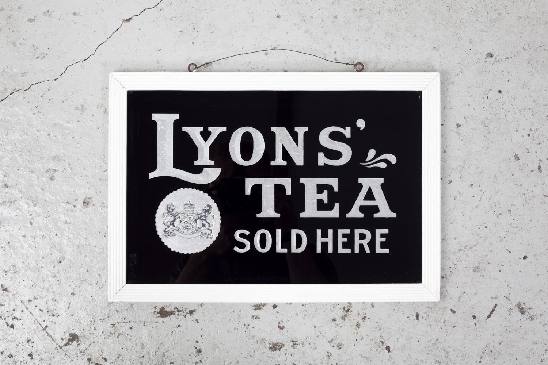 Early 20th century Lyons' Tea sign