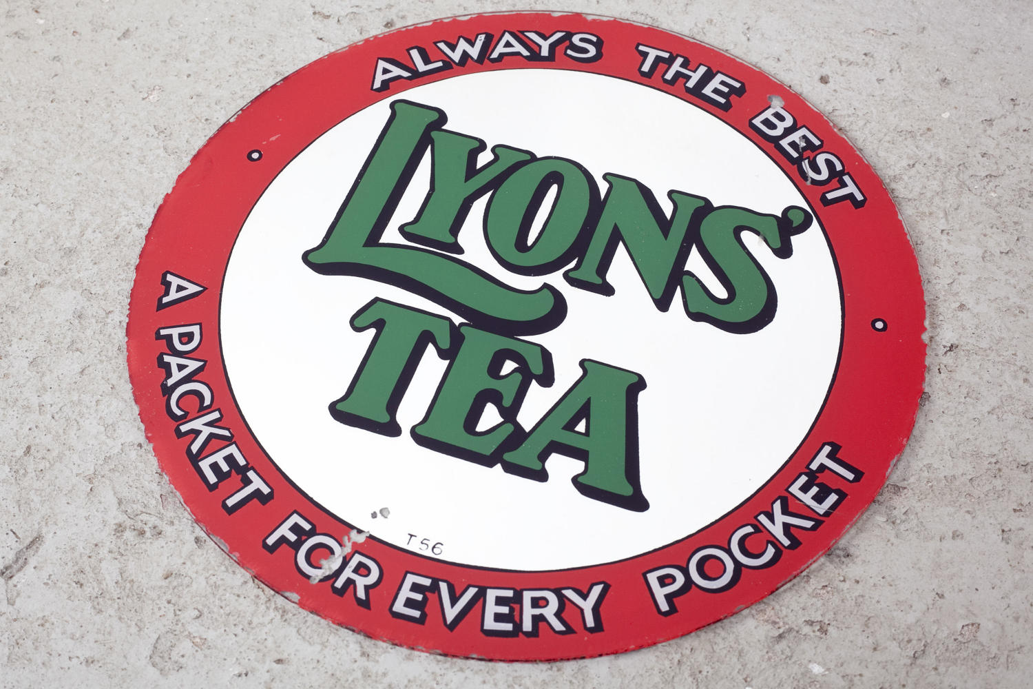 Mid century Lyons' Tea advertising mirror
