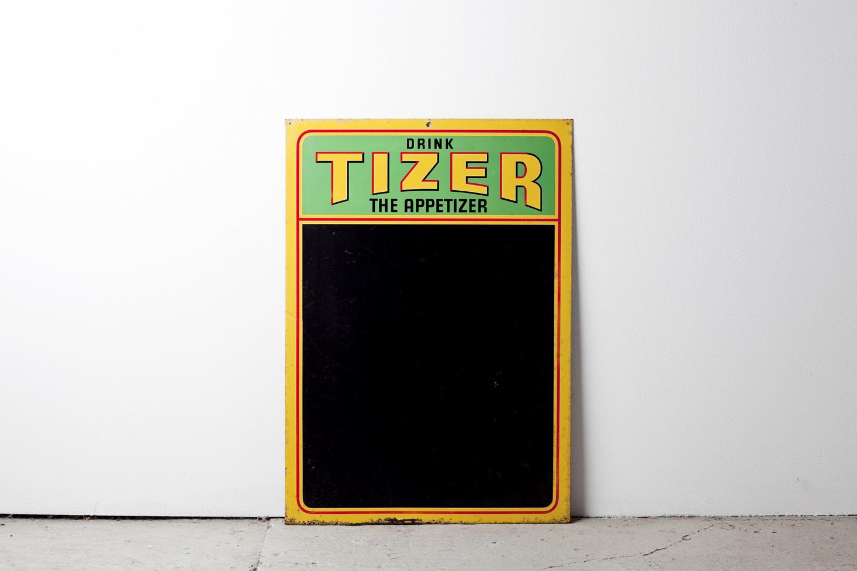 Tizer chalkboard advertising sign