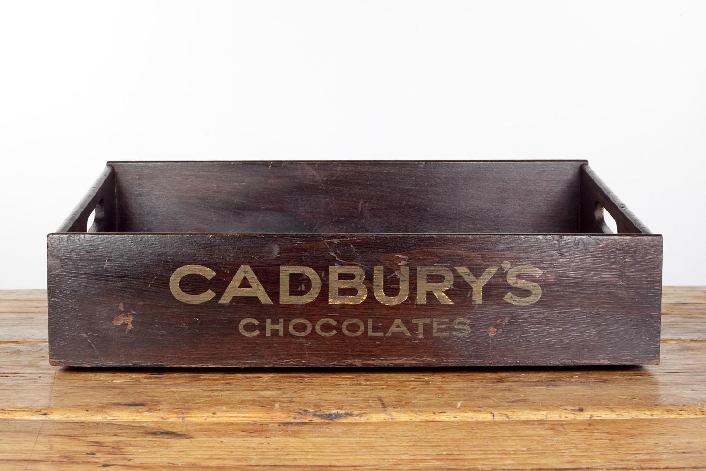 Early 20th century usher's tray for Cadbury's chocolates