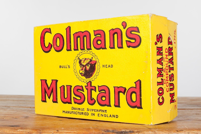Original 'dummy packaging' for Colman's Mustard