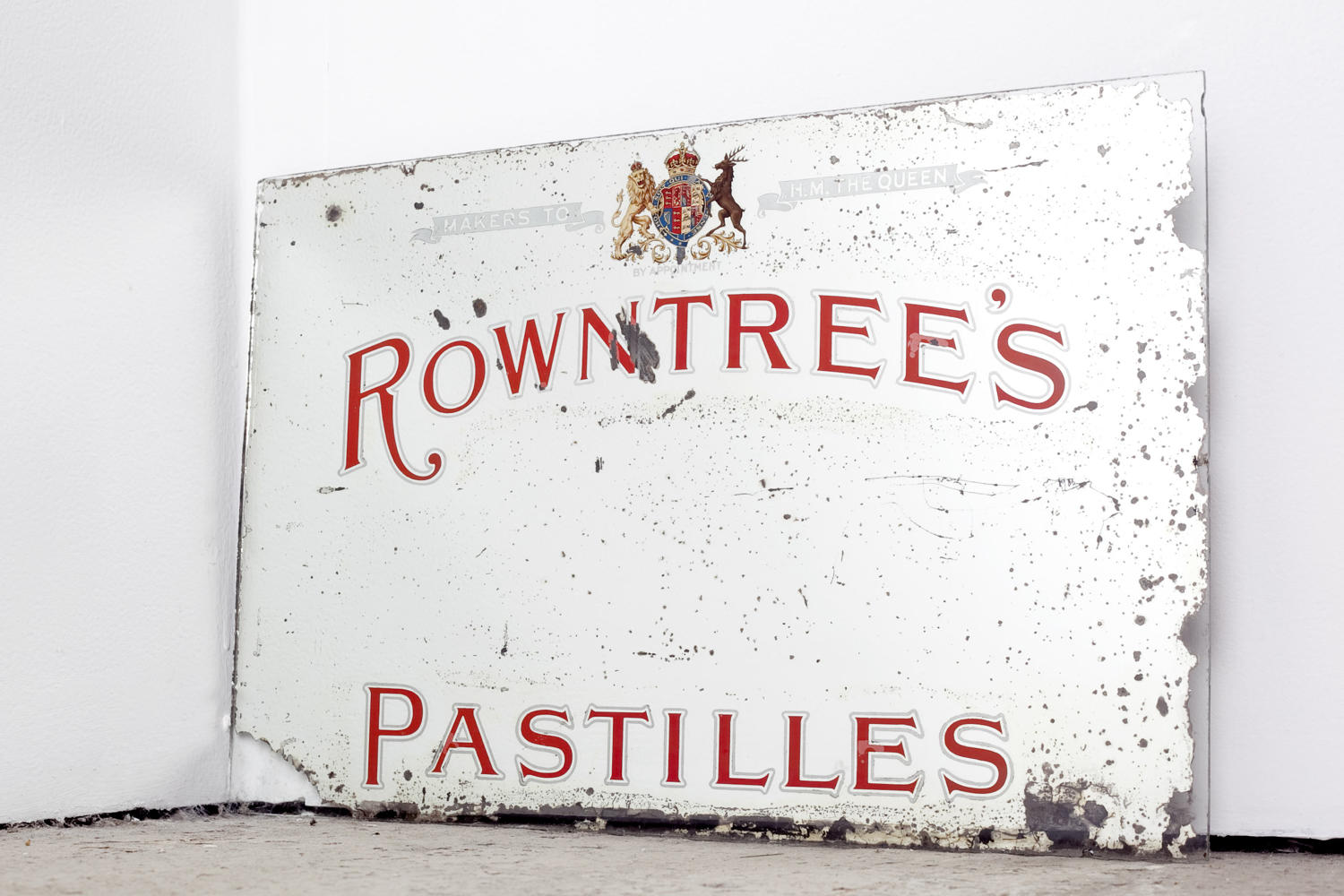Early 20th century advertising mirror for Rowntree's Pastilles