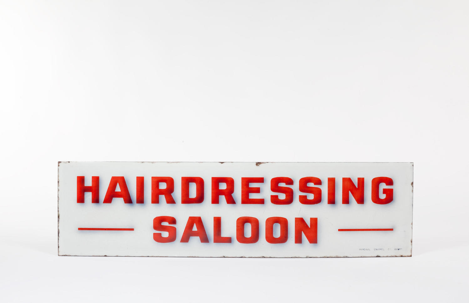 Hairdressing Saloon enamel sign
