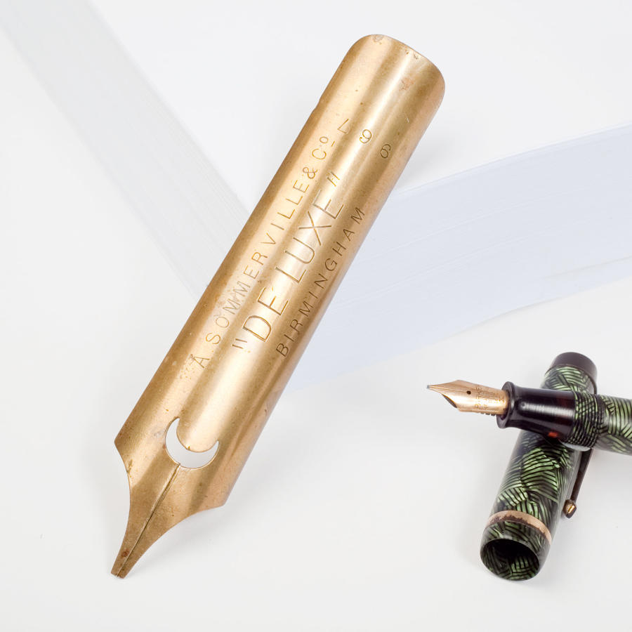 Oversized advertising pen nib for A. Sommerville & Co