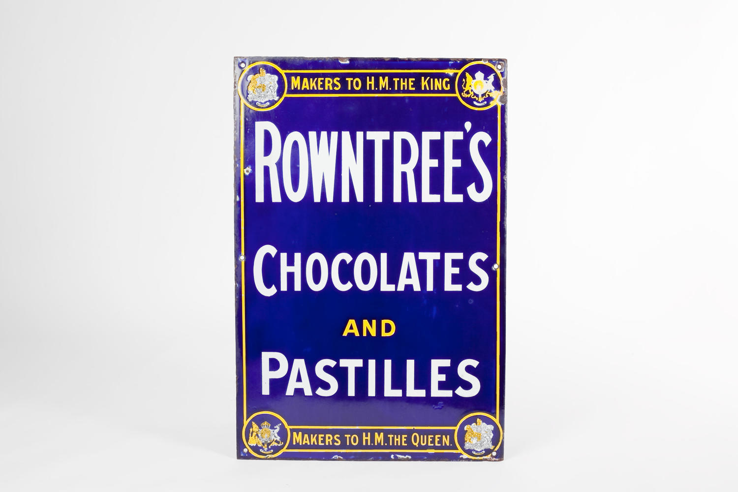 'Rowntree's Chocolates and Pastilles' enamel advertising sign