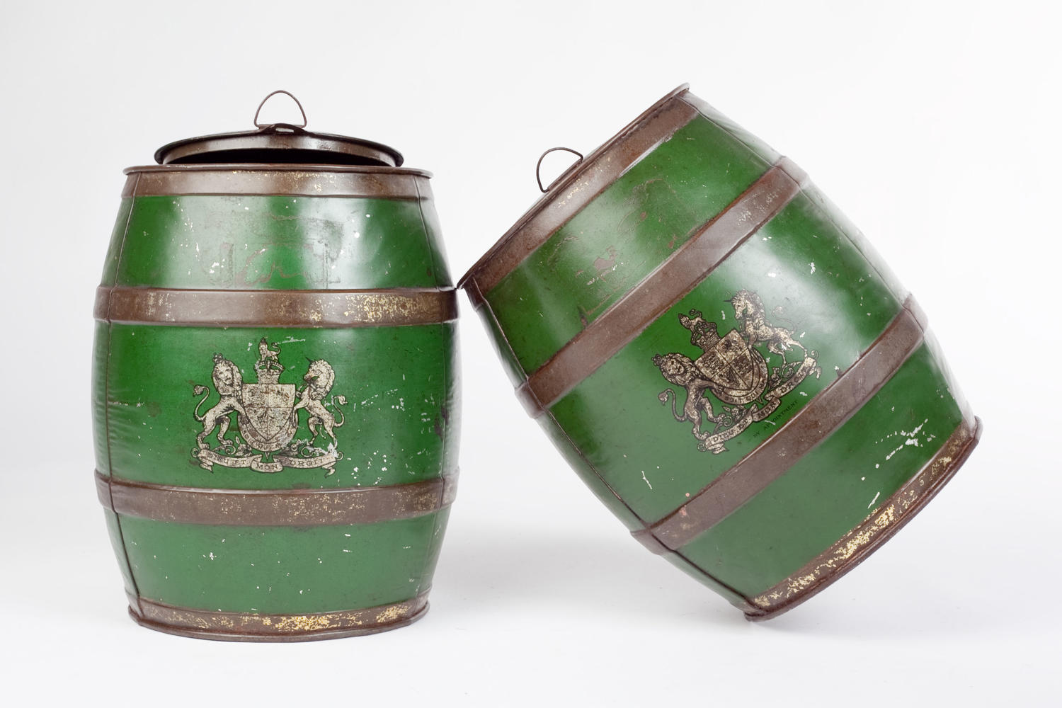 A pair of early 20th century Colman's Mustard barrels