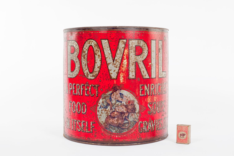 Large Bovril shop display tin
