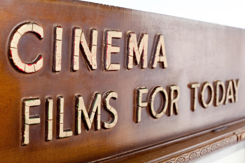 Cinema timetable display board