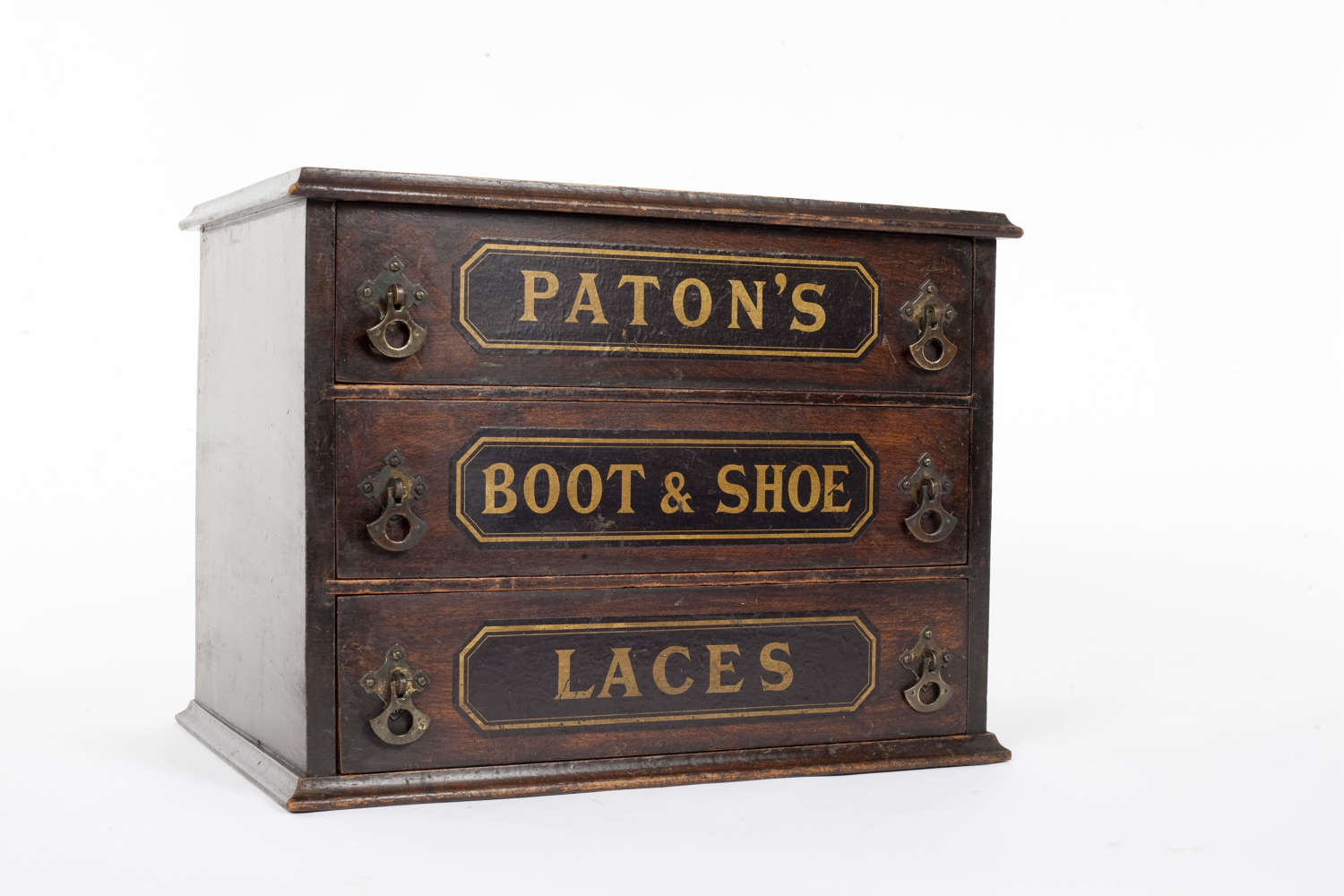 Shop display cabinet for Paton's Boot and Shoe Laces