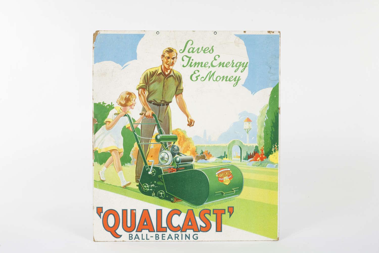 Original advertising showcard for Qualcast