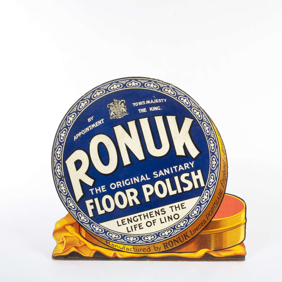 Original advertising showcard for Ronuk floor polish