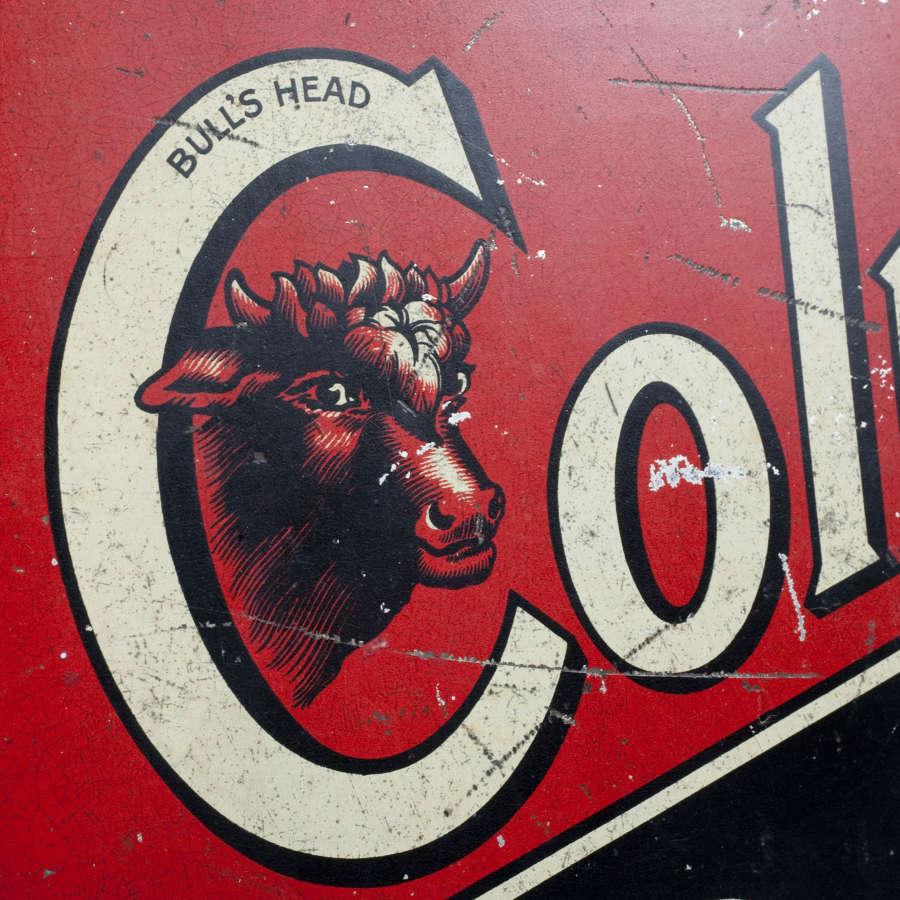 Original tin advertising sign for Colman's Starch