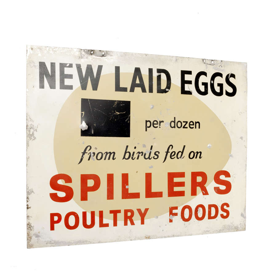 Original Spillers Poultry Foods advertising sign