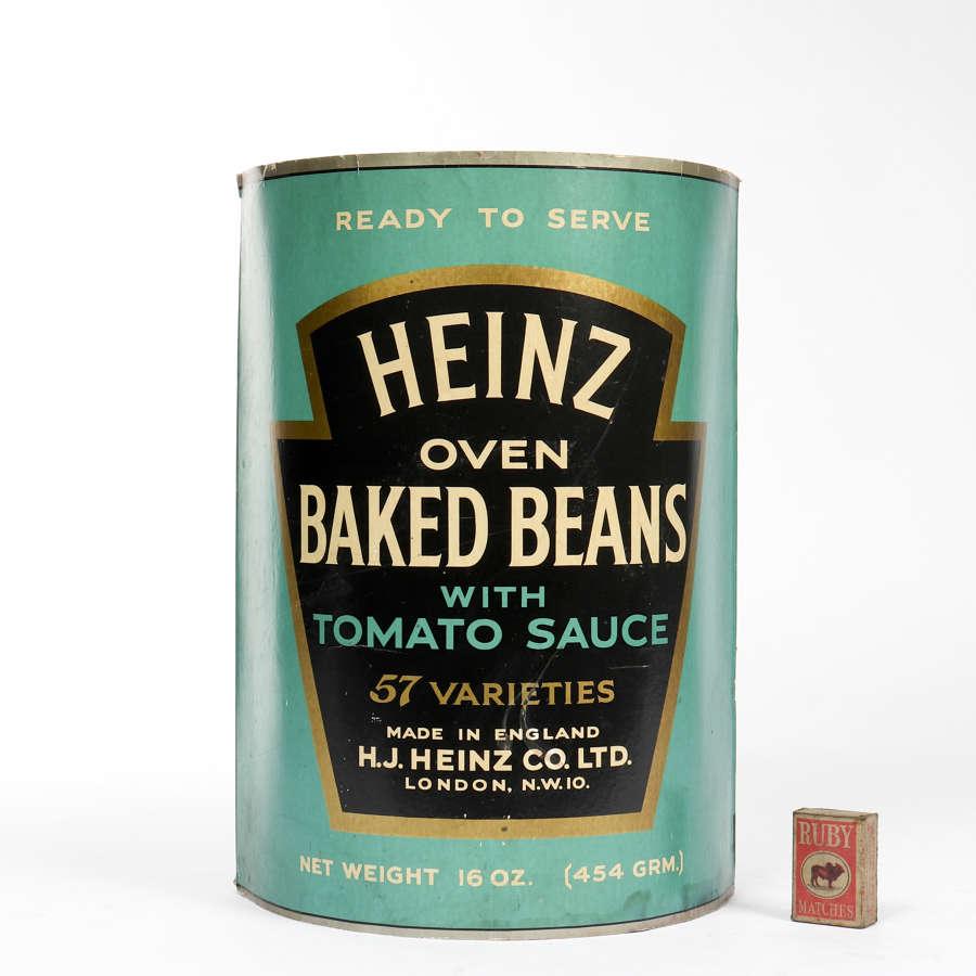 Heinz Baked Beans advertising display
