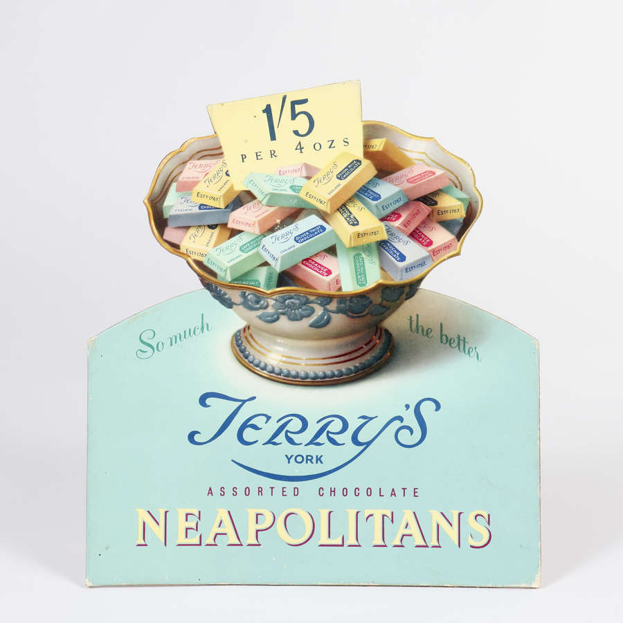 Orignal advertising showcard - Terry's Assorted Chocolate Neapolitans