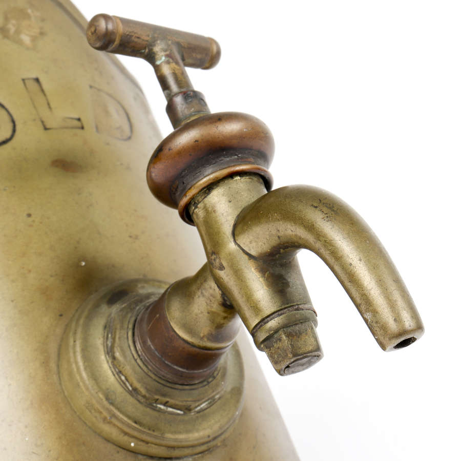 'Old Tom' brass whiskey barrel tap