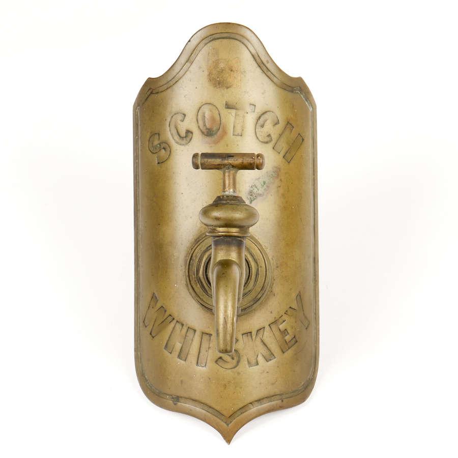 'Scotch Whiskey' brass whiskey barrel tap