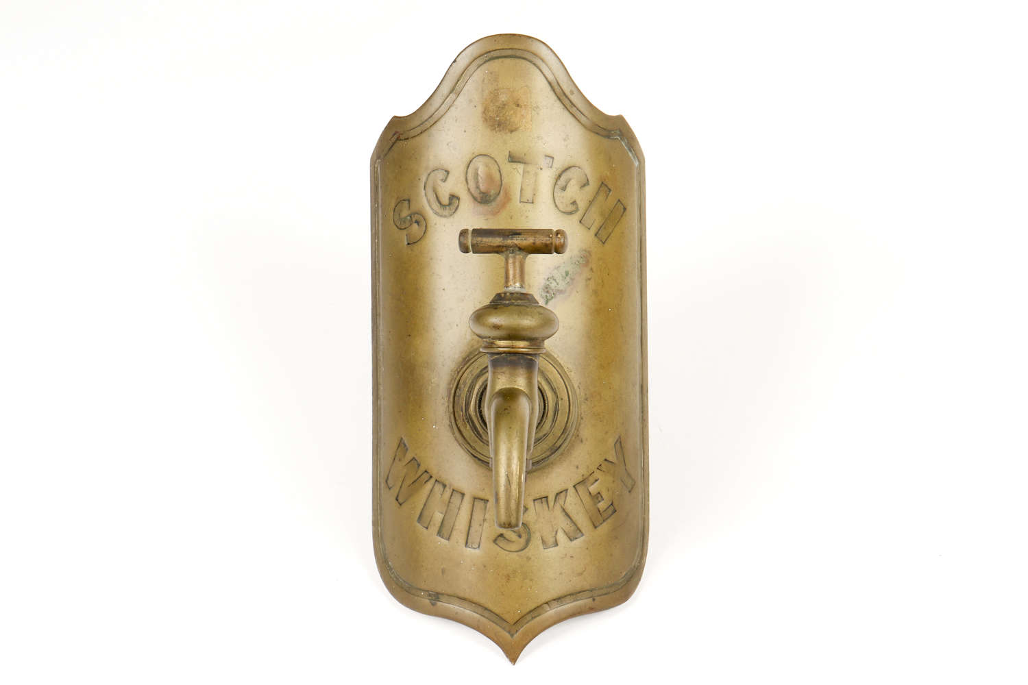'Scotch Whiskey' brass whiskey barrel tap
