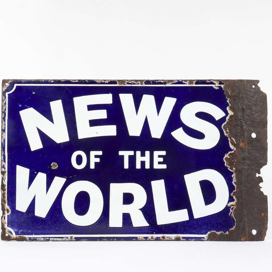 Original enamel advertising sign for News Of The World