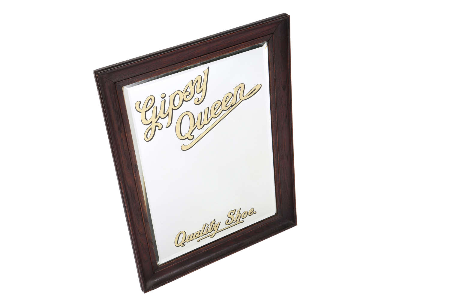 Original vintage advertising mirror for Gipsy Queen Shoes