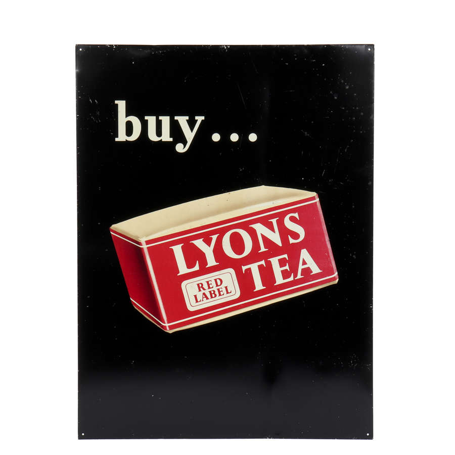 Original Lyons Tea advertising sign.