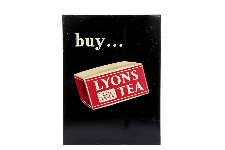 Original Lyons Tea advertising sign.
