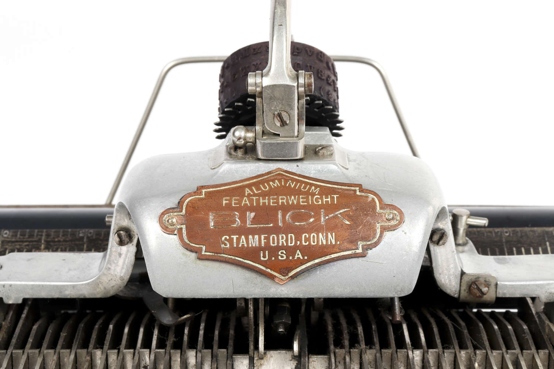 Aluminium 'Featherweight' Blickensderfer typewriter.