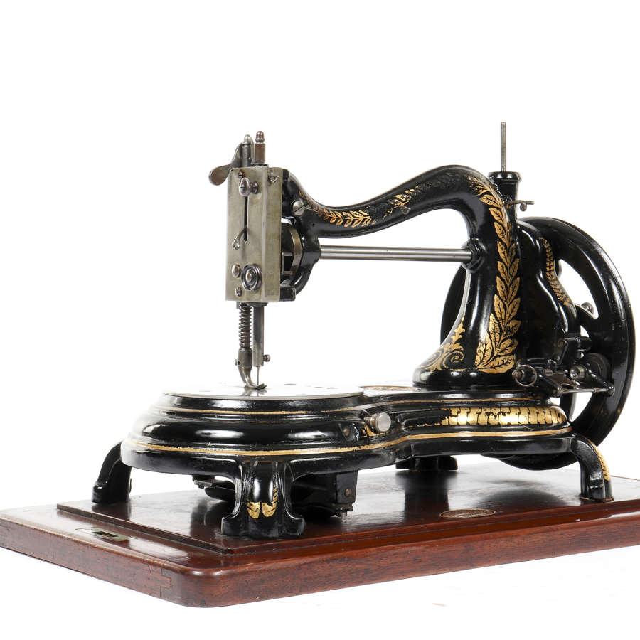 Swan neck sewing machine by Jones