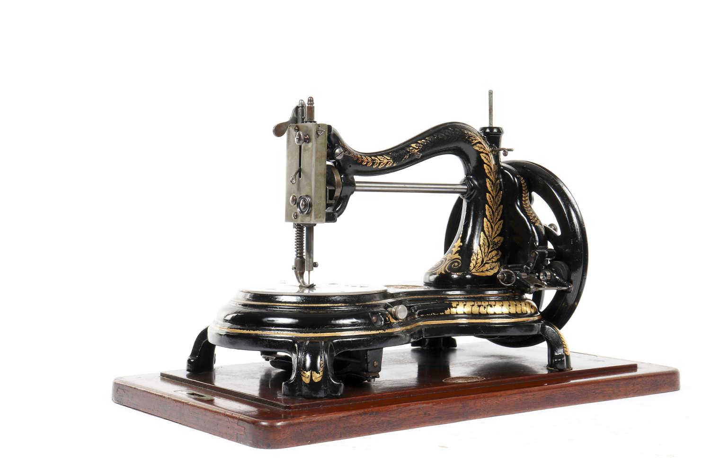 Swan neck sewing machine by Jones