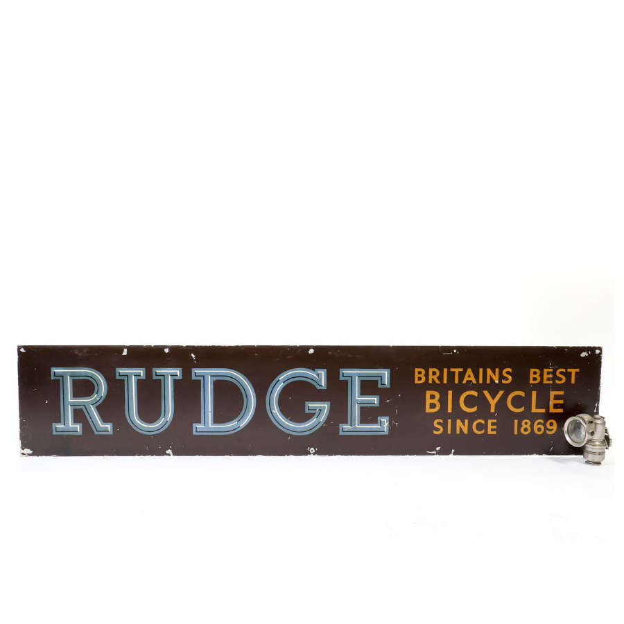 Original 'Rudge - Britain's best bicycle since 1869' sign