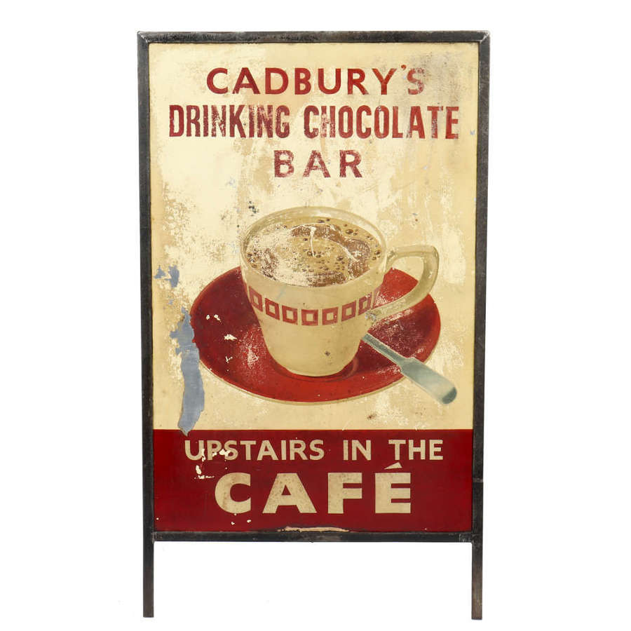 Original vintage 'Cadbury's Drinking Chocolate Bar' sign