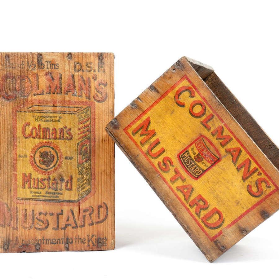 Original vintage Colman's Mustard shop delivery and display box
