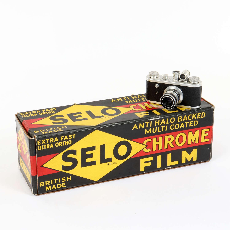 Original vintage advertising shop display for 'Selo Chrome Film'