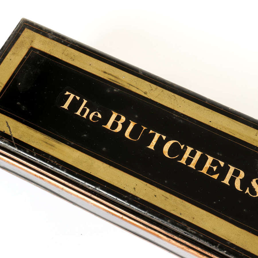 The Butchers' Company London - charters safe storage tin.