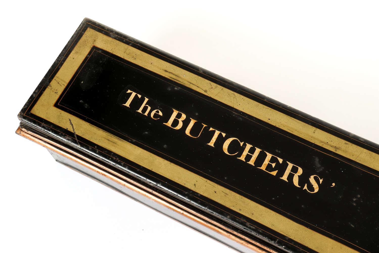 The Butchers' Company London - charters safe storage tin.