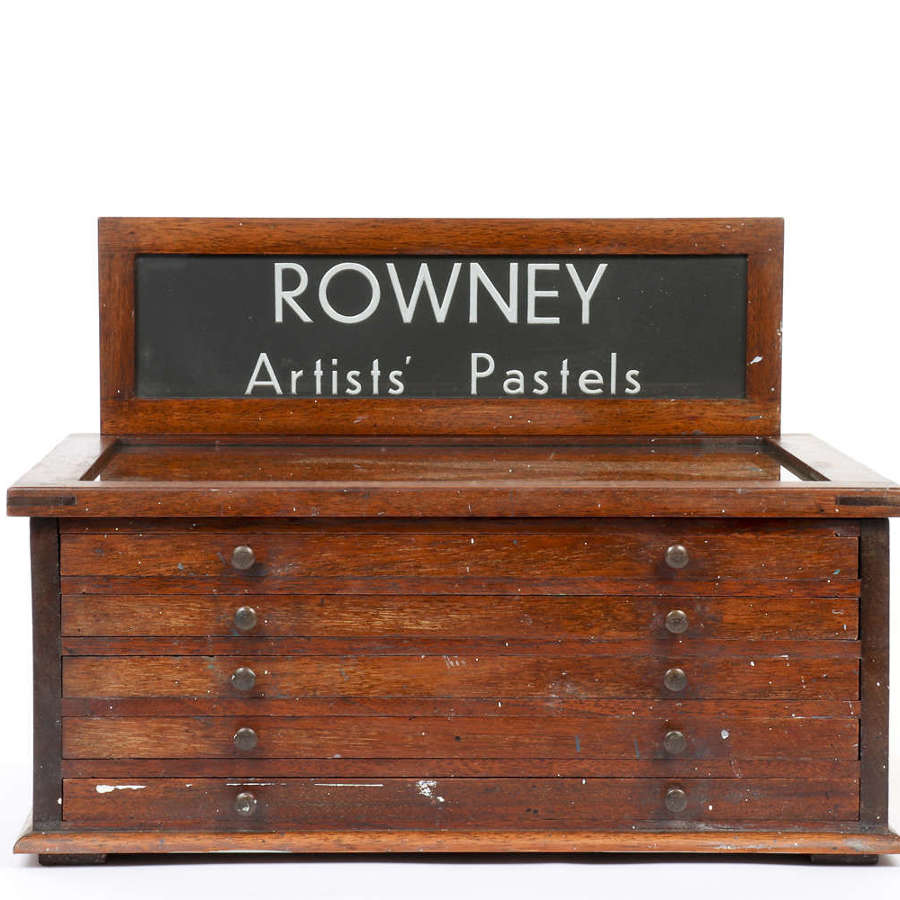 Rowney Artists' Pastels shop display cabinet