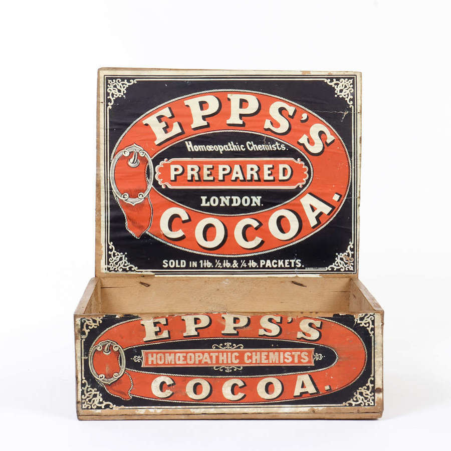 Epps's Cocoa shop delivery and display box