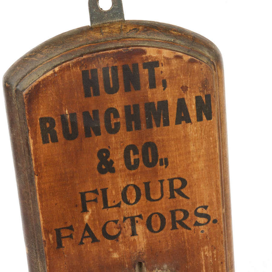 Hunt, Runchman & Co. Flour Factors thermometer.