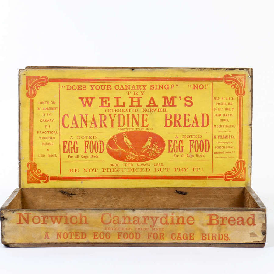 Welham's Canarydine Bread shop delivery and display box