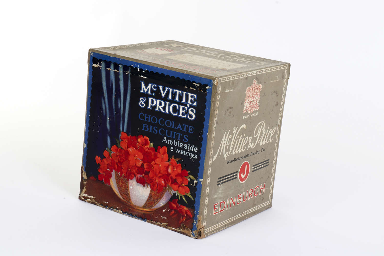 McVitie & Price's Biscuits shop display tin
