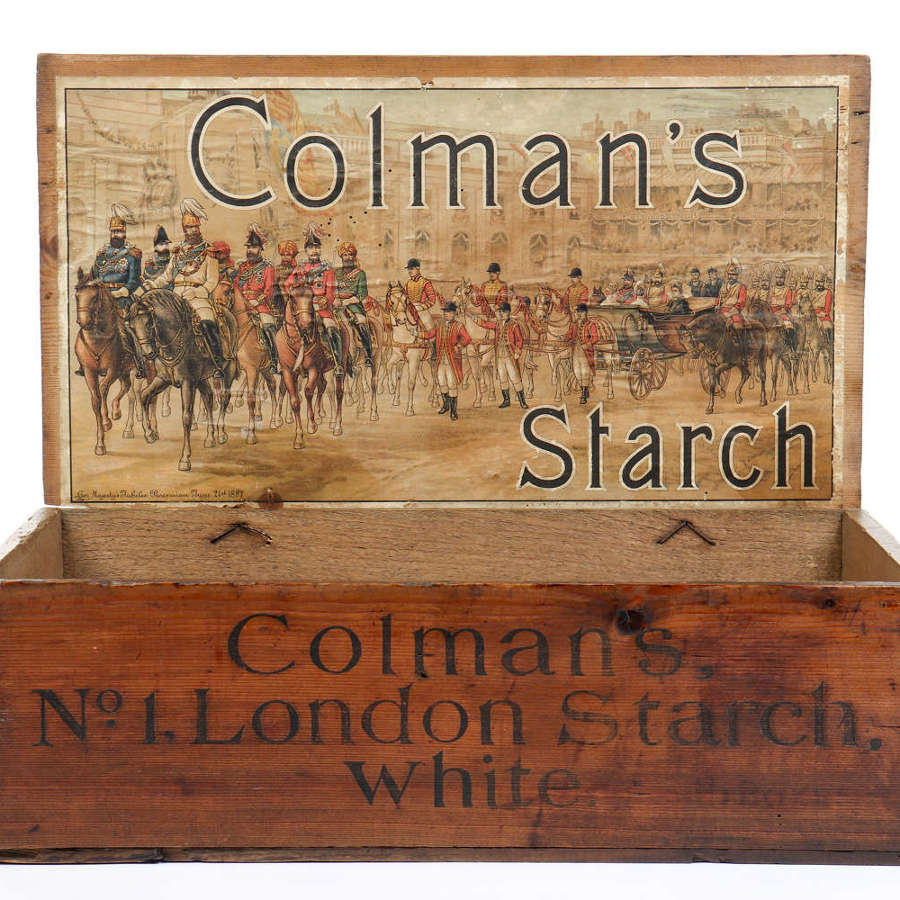 Original shop delivery and display box for Colman's Starch