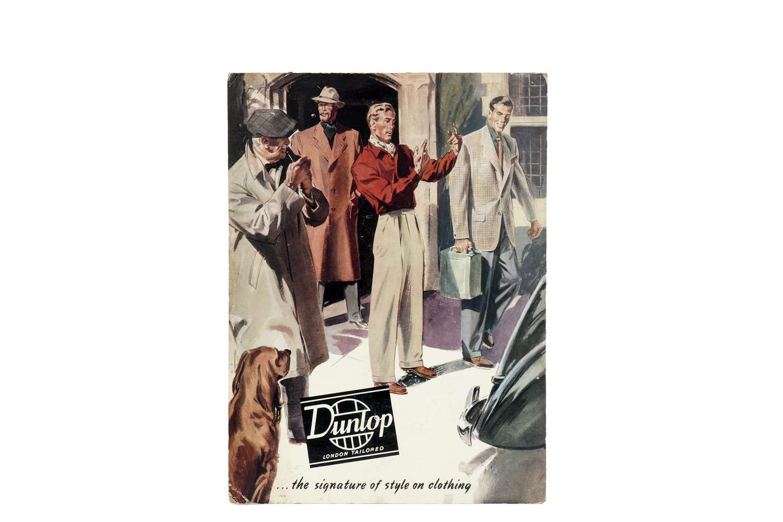 Original advertising showcard for Dunlop.