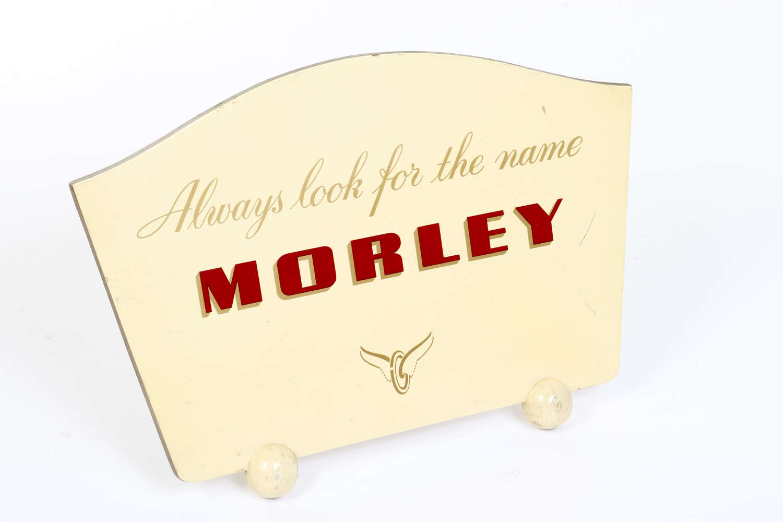 Original vintage advertising sign for Morley Stockings